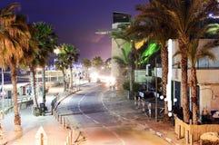 Strada pavimentata sulla riva dal mare Fotografia Stock Libera da Diritti