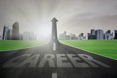 Strada per guadagnare migliore carriera illustrazione di stock