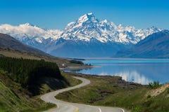 Strada per montare cuoco, Nuova Zelanda fotografia stock
