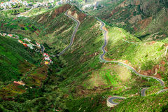 Strada pericolosa della montagna Fotografia Stock