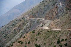 Strada pericolosa della montagna Fotografie Stock Libere da Diritti