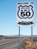 Strada più sola del ` s dell'America, strada principale 50 Fotografia Stock Libera da Diritti