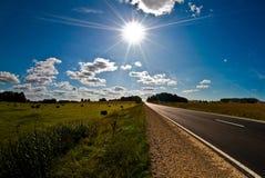 Strada piena di sole Fotografie Stock Libere da Diritti