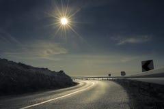 Strada piena di sole Immagini Stock Libere da Diritti