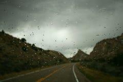 Strada piovosa Fotografie Stock Libere da Diritti