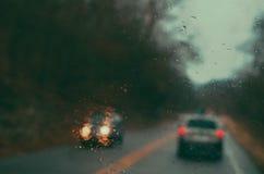Strada piovosa Fotografia Stock