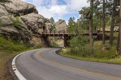 Strada & ponte del tunnel fotografia stock