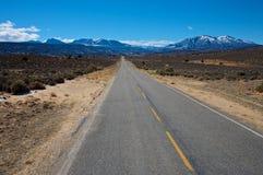 Strada principale 211 (montagne dell'Utah del sale della La) immagini stock libere da diritti