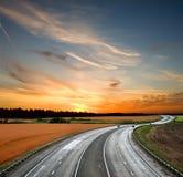 Strada principale ad alta velocità Fotografia Stock Libera da Diritti