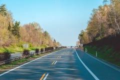 Strada principale ad alta velocità moderna in repubblica Ceca Immagini Stock
