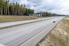 Strada principale ad alta velocità Mosca St Petersburg Fotografia Stock Libera da Diritti