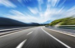 Strada principale ad alta velocità Sfuocatura di movimento Fotografie Stock