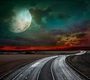 Strada principale ad alta velocità. strada fantastica Fotografia Stock Libera da Diritti