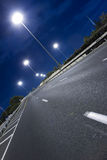 Strada principale alla notte Immagini Stock Libere da Diritti