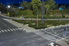 Strada principale alla notte Immagine Stock Libera da Diritti