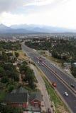 Strada principale a Almaty Immagini Stock Libere da Diritti