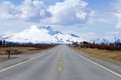 Strada principale attraverso l'Alaska immagini stock libere da diritti