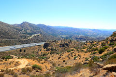 Strada principale CA-118 in Simi Valley Fotografie Stock