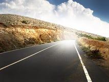 Strada principale a cielo Immagini Stock Libere da Diritti