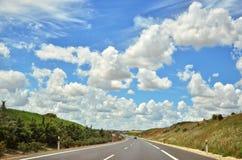 Strada principale Cloudscape Fotografia Stock