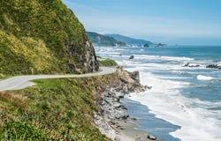 Strada principale costiera della Nuova Zelanda Fotografia Stock