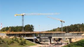 Strada principale, costruzione di ponte stock footage