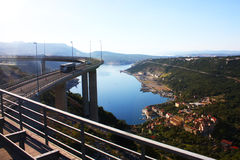 Strada principale croata nelle montagne Fotografia Stock Libera da Diritti