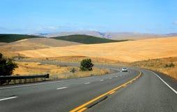 Strada principale Curvy dell'Oregon Fotografia Stock Libera da Diritti