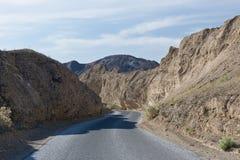 Strada principale in Death Valley Fotografie Stock Libere da Diritti