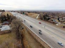 Strada principale degli Stati Uniti 36 in Denver Colorado Fotografie Stock