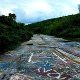 Strada principale dei graffiti Fotografie Stock