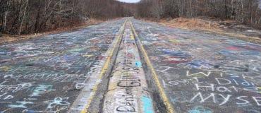 Strada principale dei graffiti fotografia stock