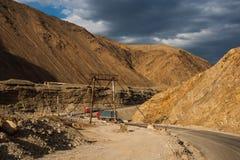 Strada principale del canyon della montagna Immagini Stock Libere da Diritti