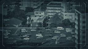Strada principale del CCTV che passa gli appartamenti archivi video