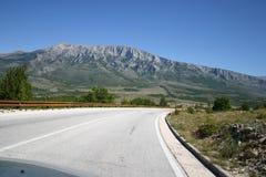 Strada principale del Croatia Fotografie Stock Libere da Diritti