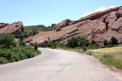 Strada principale del deserto Immagine Stock