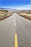 Strada principale del deserto. Fotografie Stock