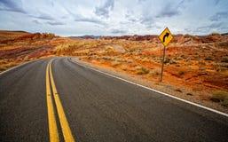 Strada principale del deserto Immagini Stock