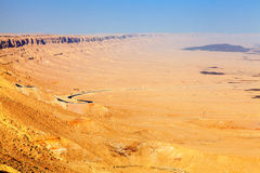 Strada principale del deserto Fotografie Stock