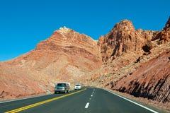 Strada principale del deserto dell'Arizona fotografie stock