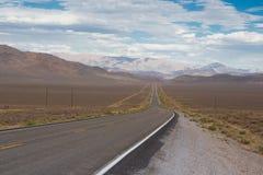 Strada principale 50 del Nevada Fotografia Stock