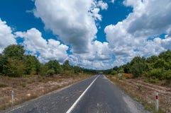 Strada principale del paese Fotografia Stock