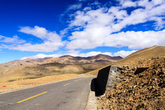Strada principale del Tibet Fotografie Stock Libere da Diritti