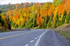 Strada principale del trasporto Canada Fotografia Stock