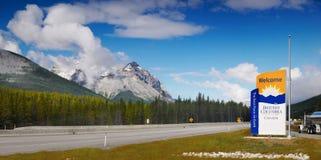 Strada principale del trasporto Canada, Columbia Britannica Fotografie Stock