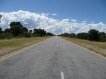 Strada principale del trasporto Kalahari Immagini Stock Libere da Diritti