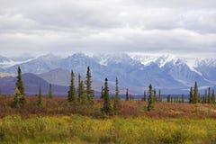 Strada principale dell'Alaska Denali in autunno Fotografia Stock