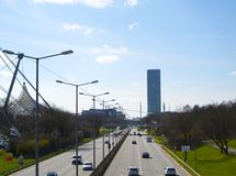 Strada principale dell'autostrada a Monaco di Baviera Fotografie Stock Libere da Diritti