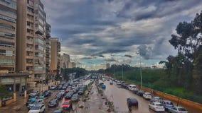 Strada principale della città fotografia stock