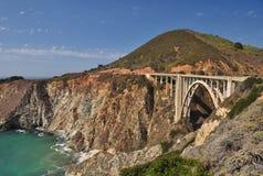 Strada principale della costa del Pacifico, California Fotografia Stock Libera da Diritti